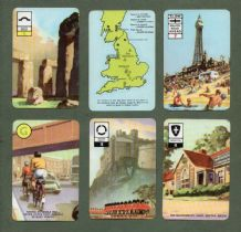 Vintage Cards game  Round Britain by Pepys